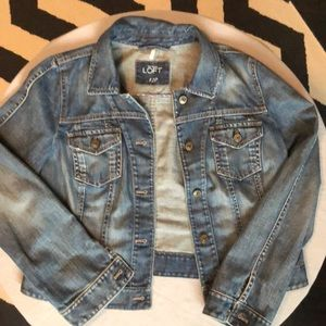LOFT butter soft jean jacket